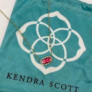 Kendra Scott hot pink necklace
